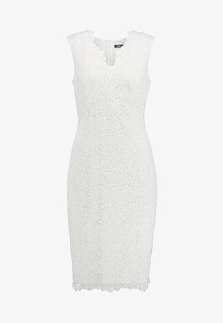 SCALLOP V NECK SHIFT - Cocktail dress / Party dress - ivory