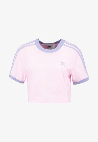 CROPPED TEE - T-Shirt print - clear pink