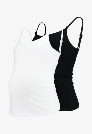 MATERNITY NURSING 2PACK - Top - black/white