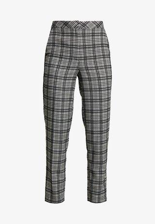 MONO CHECK TROUSERS - Spodnie materiałowe - black/white