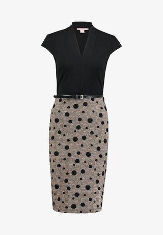 Shift dress - black/rose