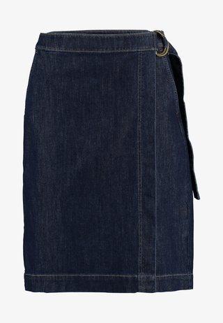 WRAP PENCIL - Wrap skirt - dark wash