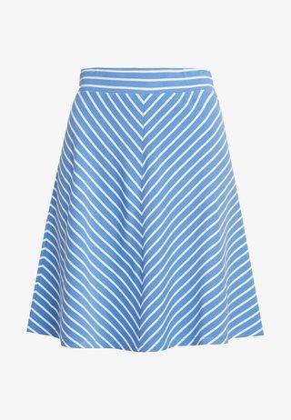 EASY STRIPED SKIRT - A-line skirt - blue