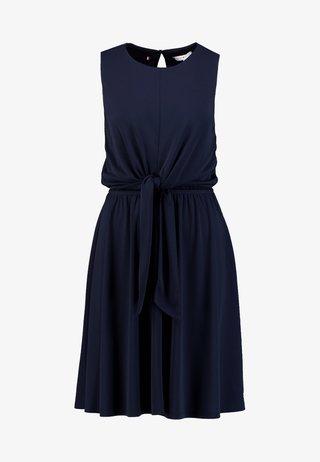 BARBARA KNOT DRESS - Jerseykleid - blue