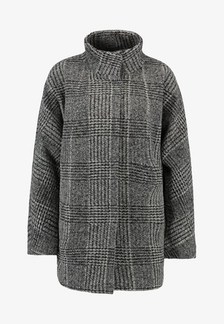 HOOVER CHECK - Cappotto corto - slate grey melange