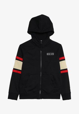 AIR  - veste en sweat zippée - black/team gold/university red