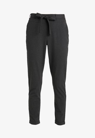 JILLIAN BELT PANT - Trousers - dark grey melange