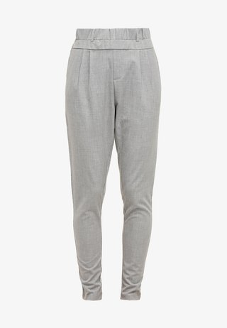 JILLIAN PANTS - Stoffhose - light grey melange