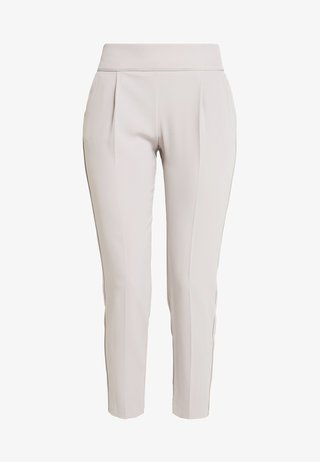 HENNA PIPED PULL ON - Stoffhose - silver