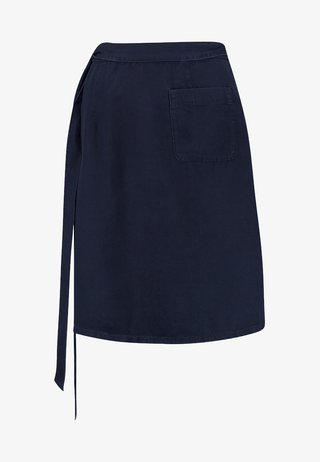 WRAP SKIRT SHORT LENGTH - A-Linien-Rock - blue denim