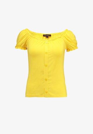 BUTTON THROUGH PLAIN MILKMAID - Triko spotiskem - sunshine yellow