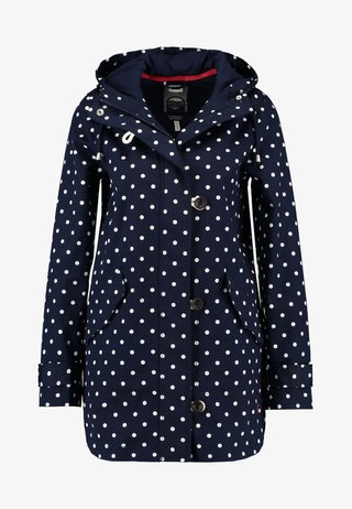 COASTMID PRINT - Short coat - dark blue